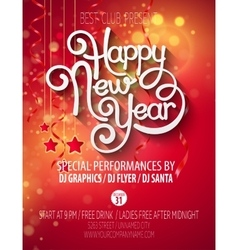 New Yearparty poster vector image