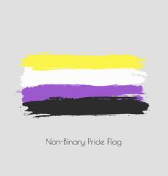 Non-binary lgbt watercolor flag vector