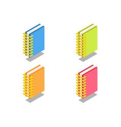 notebook icon symbol vector image vector image