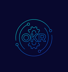 okr objectives and key results linear vector image