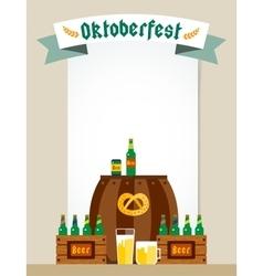 Oktoberfest celebration background poster vector