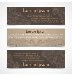Ornamental banners horizontal vector