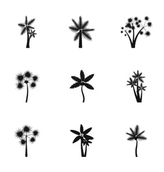 Palma icons set simple style vector