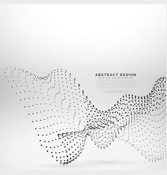 Particle black dots wave background vector