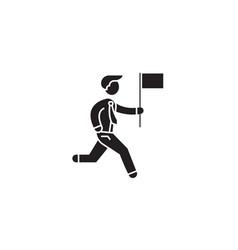 personal achievement black concept icon vector image