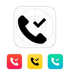 Phone call accept icon vector image