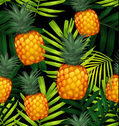 pineapples seamless patter3 vector image