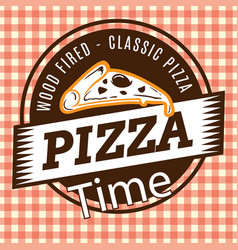 Pizza time wood fired-classic vector