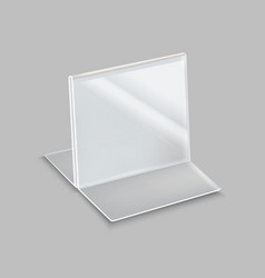 realistic detailed 3d empty plastic holder vector image