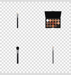 Realistic multicolored palette brow makeup tool vector