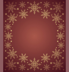 Red new year background card with snowflake vector