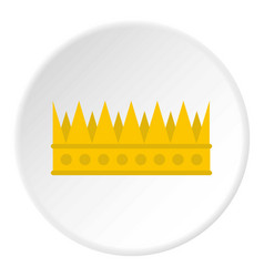 Regal crown icon circle vector