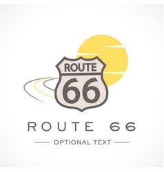 Route 66 logo and text for designs vector