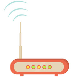 Router wi fi connection technological device vector