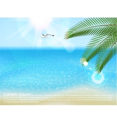 sea landscape with type design vector image