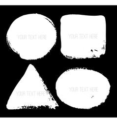Set of hand-drawn grunge shapes vector image
