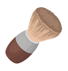 shaving brushbarbershop single icon in cartoon vector image
