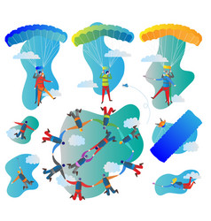 skydiving collection vector image