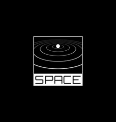 Space t-shirt and apparel design with 1980s vector
