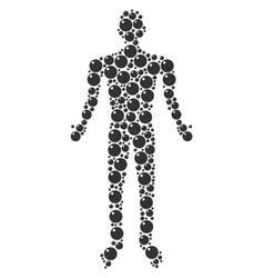 Sphere man figure vector