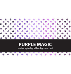 Spiral pattern set purple magic seamless vector