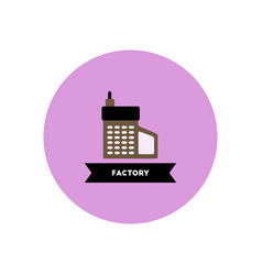 Stylish icon in color circle building factory vector