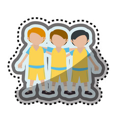 team players characters icon vector image