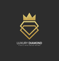 template luxury diamond concept vector image