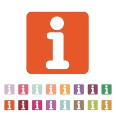 The information icon Info and faq symbol Flat vector image