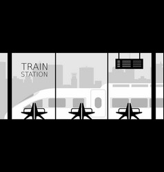 train station vector image