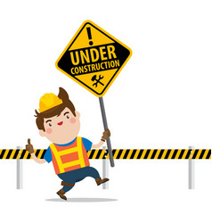 under construction mascot vector image