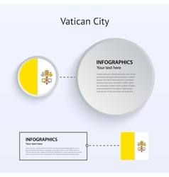 Vatican City Country Set of Banners vector image