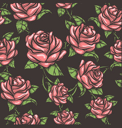 vintage seamless rose pattern vector image