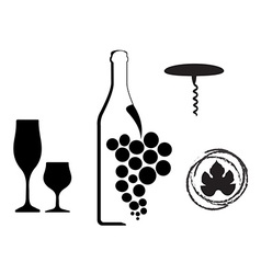Wine type designs vector