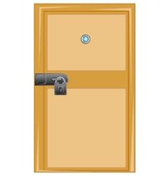 Wooden door with external lock vector