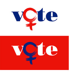 Word vote is combined with female symbol vector