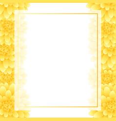 yellow dahlia banner card border style 2 vector image
