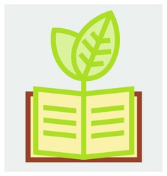 Young plant and book poster vector image