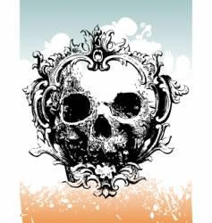 grunge skull illustration vector image vector image