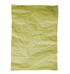 Piece of old paper on white background Image vector image
