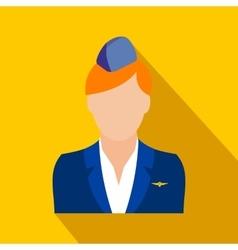 Stewardess flat icon vector image