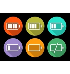 Battery icon set vector image vector image