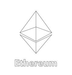 ethereum symbol chrystal vector image vector image