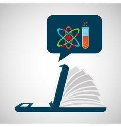 online learning chemistry education vector image