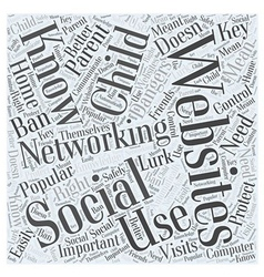 Parents What You Need to Know About Social vector image vector image