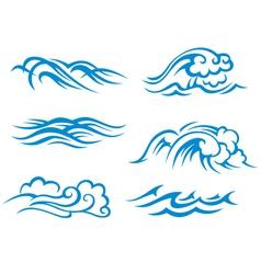 Sea and ocean waves vector