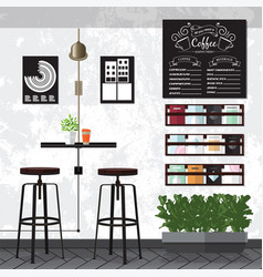 coffee amp cafe interiors vector image vector image