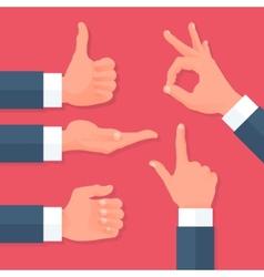 Men Hands Icons Set vector image