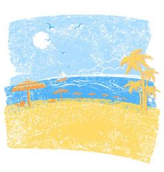 nature tropical beach with beach umbrellas vector image vector image