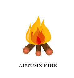 red fire icon isolated on background modern vector image